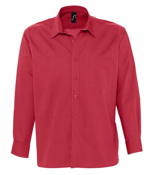 Koszula S 17060 BRADFORD  - 17060_flamenco_red_S - Kolor: Flamenco red