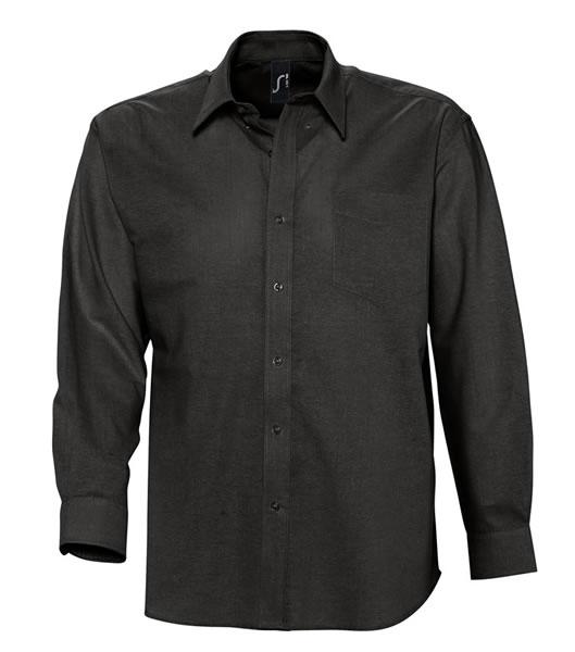 Koszula S 16000 BOSTON - 16000_black_S - Kolor: Black