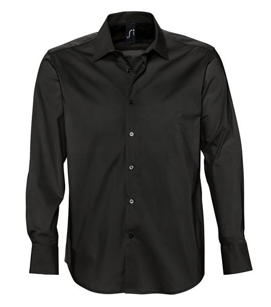 Koszula S 17000 BRIGHTON - 17000_black_S - Kolor: Black