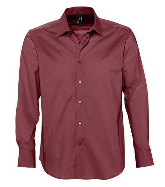 Koszula S 17000 BRIGHTON - 17000_medium_burgundy_S - Kolor: Medium burgundy