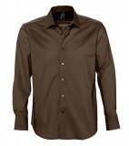 Koszula S 17000 BRIGHTON - 17000_dark_brown_S Dark brown