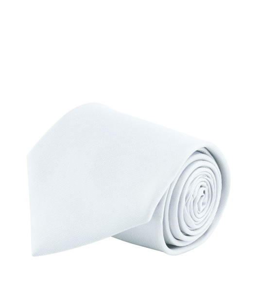 Krawat S 82000 GLOBE - 82000_white_S - Kolor: White
