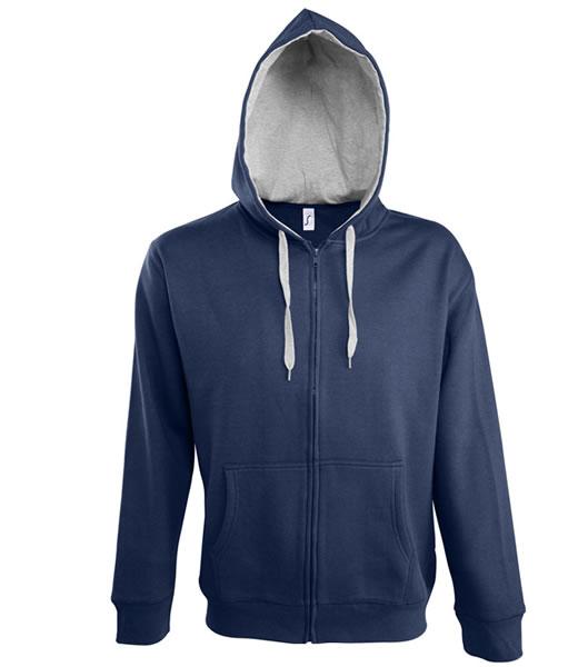 Bluza dresowa S 46900 SOUL MEN 290 - 46900_frenchnavy_greymelange_S - Kolor: White / Grey melange
