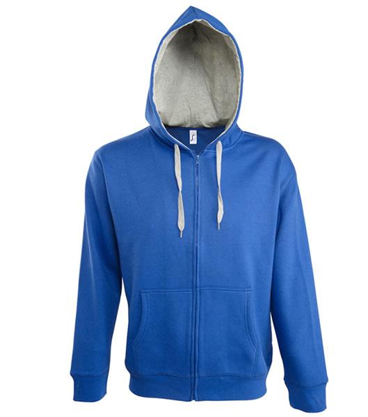 Bluza dresowa S 46900 SOUL MEN 290 - 46900_royalblue_greymelange_S - Kolor: Royal blue / Grey melange