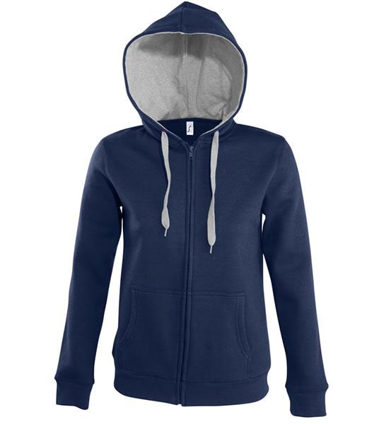 Bluza dresowa Ladies S 47100 SOUL WOMEN - 47100_frenchnavy_greymelange_S - Kolor: French navy / Grey melange