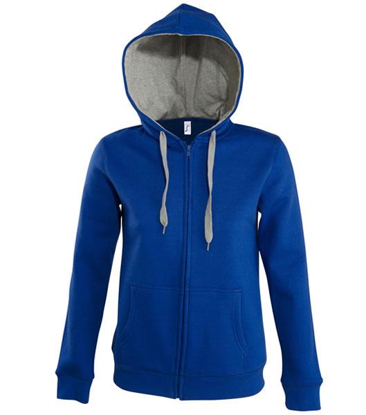 Bluza dresowa Ladies S 47100 SOUL WOMEN - 47100_royalblue_greymelange_S - Kolor: Royal blue / Grey melange