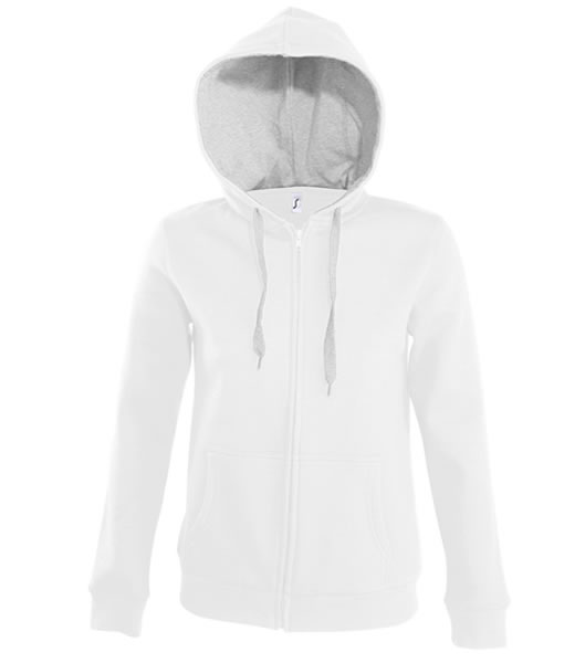 Bluza dresowa Ladies S 47100 SOUL WOMEN - 47100_white_greymelange_S - Kolor: White / Grey melange