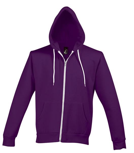 Bluza dresowa Unisex S 47700 SILVER 280 - 47700_purple_S - Kolor: Purple