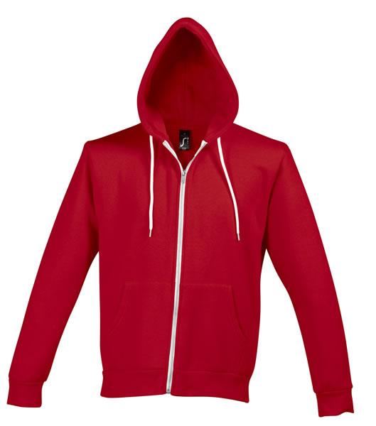 Bluza dresowa Unisex S 47700 SILVER 280 - 47700_red_S - Kolor: Red