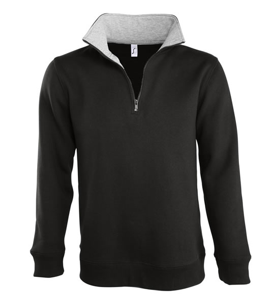 Bluza dresowa S 47300 SCOTT 290 - 47300_black_gremelange_S - Kolor: Black / Grey melange