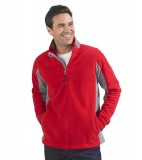 Bluzy polarowe S 56500 NIAGARA 300 - 56500_red_mediumgrey_S Red / Medium grey