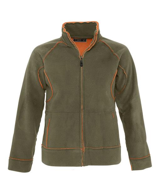 Bluzy polarowe Ladies S 52000 NEO 400 - 52000_army_orange_S - Kolor: Army / Orange