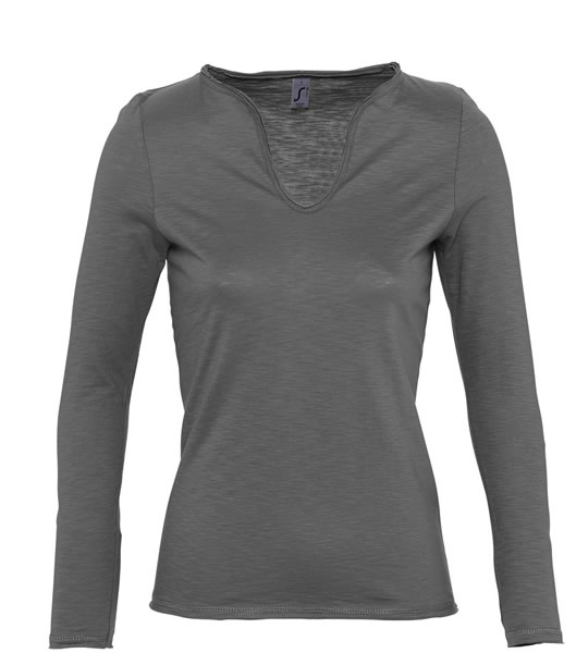 T-shirt Ladies S 11426 MARAIS WOMEN 150 - 11426_dark_grey_S - Kolor: Dark grey