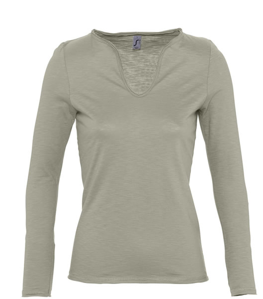 T-shirt Ladies S 11426 MARAIS WOMEN 150 - 11426_khaki_S - Kolor: Khaki