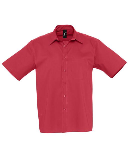 Koszula S 17070 BERKLEY  - 17070_flamenco_red_S - Kolor: Flamenco red