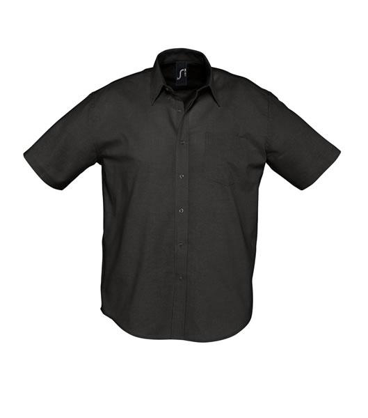Koszula S 16010 BRISBANE - 16010_black_S - Kolor: Black