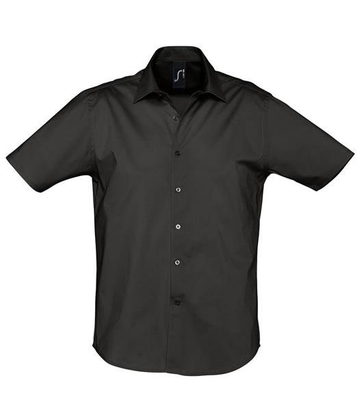 Koszula S 17030 BROADWAY - 17030_black_S - Kolor: Black