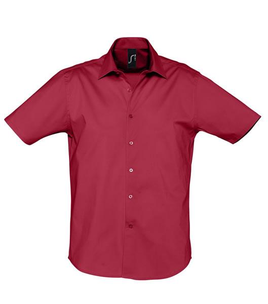 Koszula S 17030 BROADWAY - 17030_cardinal_red_S - Kolor: Cardinal red
