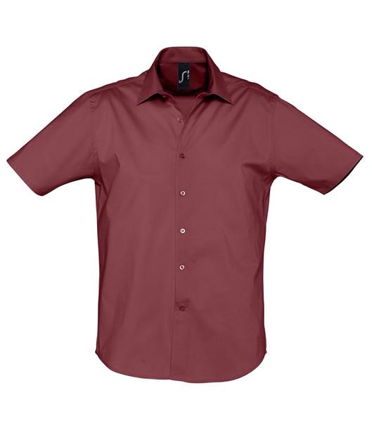 Koszula S 17030 BROADWAY - 17030_medium_burgundy_S - Kolor: Medium burgundy
