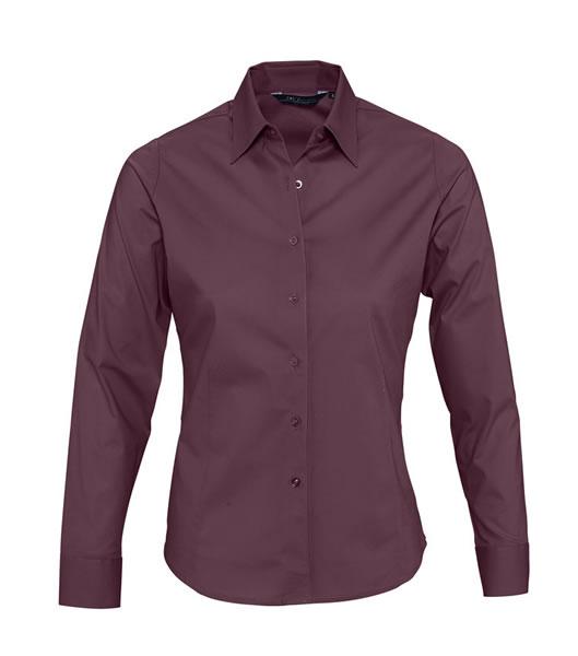 Koszula Ladies S 17015 EDEN - 17015_medium_burgundy_S - Kolor: Medium burgundy