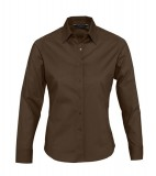 Koszula Ladies S 17015 EDEN - 17015_dark_brown_S Dark brown