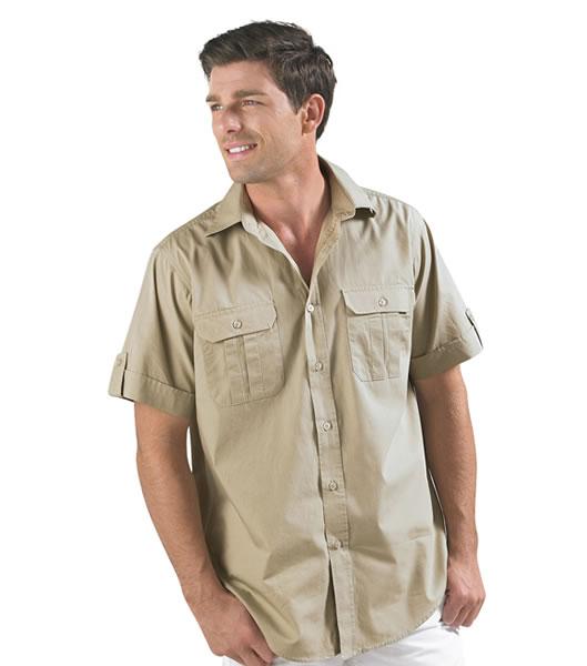 Koszula S 16007 BOTSWANA MEN - 16007_rope_S - Kolor: Rope