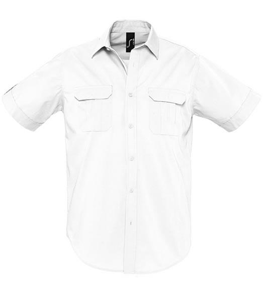 Koszula S 16007 BOTSWANA MEN - 16007_white_S - Kolor: White