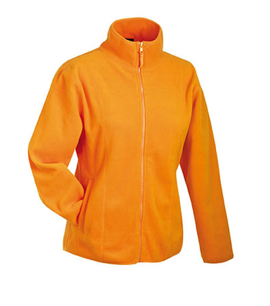Bluzy polarowe Ladies JN049 Microfleece Jacket - 049_orange_JN - Kolor: Orange