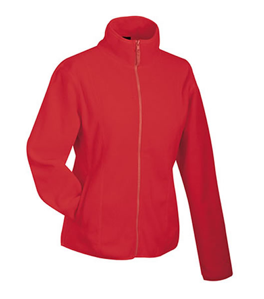 Bluzy polarowe Ladies JN049 Microfleece Jacket - 049_red_JN - Kolor: Red