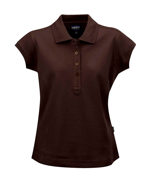 Koszulki Polo Ladies H 2125016 TIFFIN - tiffin_brown_801_H - Kolor: Brown