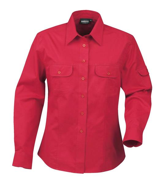 Koszula Ladies H 2123010 MARION - marion_red_400_H - Kolor: Red