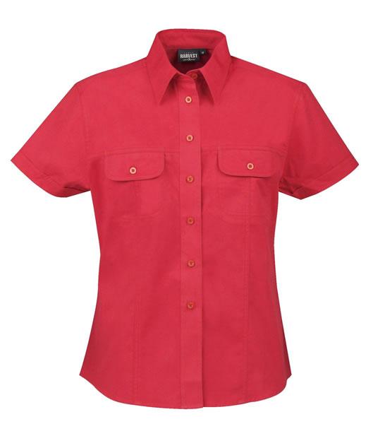 Koszula Ladies H 2123013 AVALON  - avalon_red_400_H - Kolor: Red