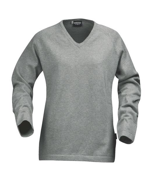 Sweter Ladies H 2122009 MARYLAND - maryland_grey_melange_131_H - Kolor: Grey melange