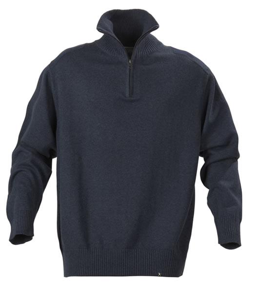 Sweter H 2112028 LARGO - largo_navy_melange_612_H - Kolor: Navy melange