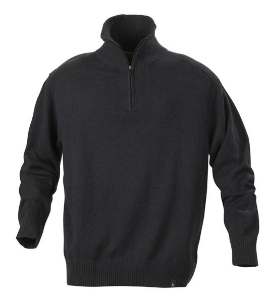 Sweter H 2112028 LARGO - largo_black_melange_905_H - Kolor: Black melange