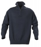 Sweter H 2112028 LARGO - largo_navy_melange_612_H Navy melange