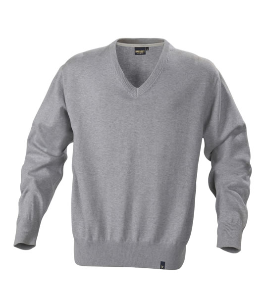 Sweter H 2112027 LOWELL - lowell_grey_melange_131_H - Kolor: Grey melange