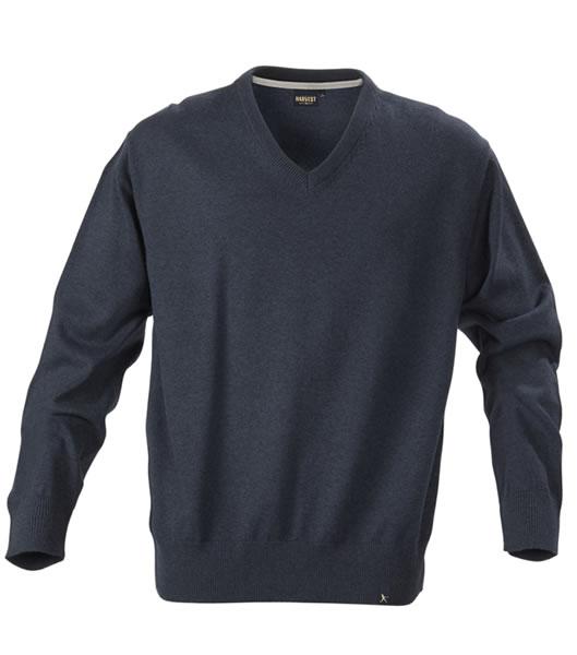 Sweter H 2112027 LOWELL - lowell_navy_melange_612_H - Kolor: Navy melange