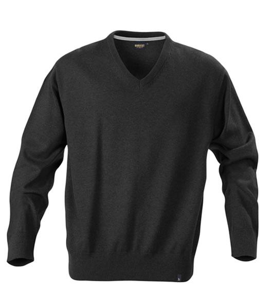Sweter H 2112027 LOWELL - lowell_black_melange_905_H - Kolor: Black melange