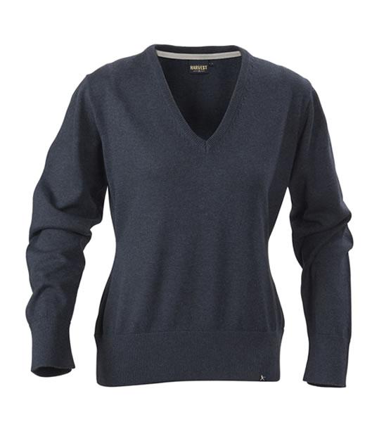 Sweter Ladies H 2122029 LORAINE - loraine_navy_melange_612_H - Kolor: Navy melange