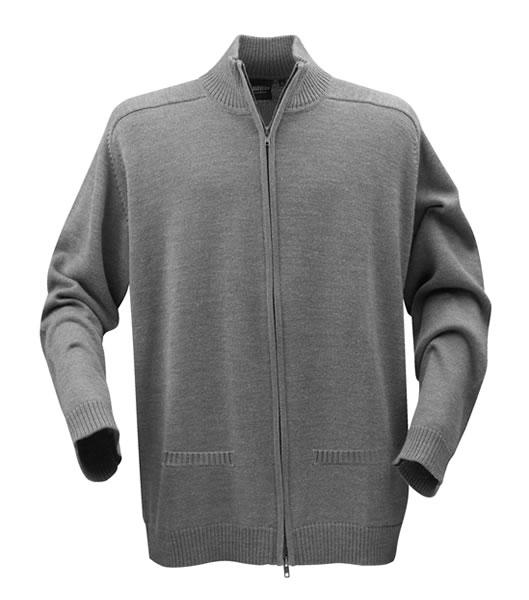 Sweter H 2112025 LEEDS - leeds_grey_melange_131_H - Kolor: Grey melange