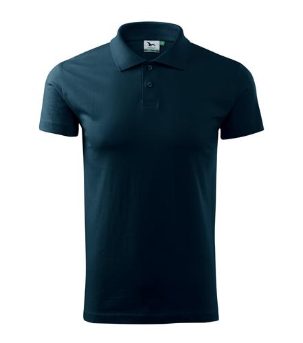 Koszulki Polo Unisex A 202 SINGLE J. 180 - 202_02_A - Kolor: Granatowy