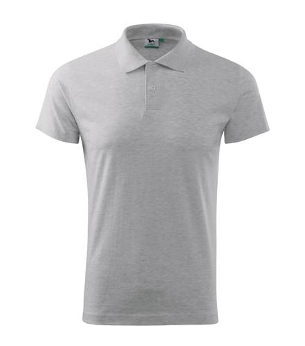 Koszulki Polo Unisex A 202 SINGLE J. 180 - 202_03_A - Kolor: Jasno szary melanż