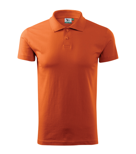 Koszulki Polo Unisex A 202 SINGLE J. 180 - 202_11_A - Kolor: Pomarańczowy