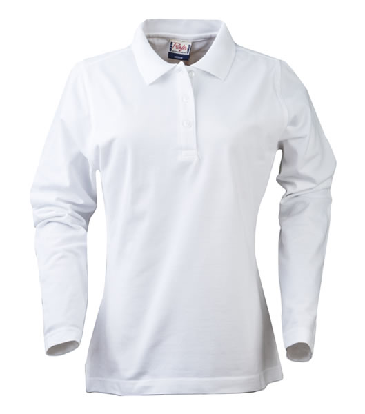 Koszulki Polo Ladies P 2065012 Surf Long Sleeve - surf_l_long_white_100_P - Kolor: White