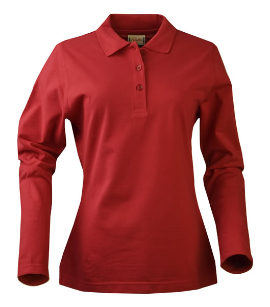 Koszulki Polo Ladies P 2065012 Surf Long Sleeve - surf_l_long_red_400_P - Kolor: Red