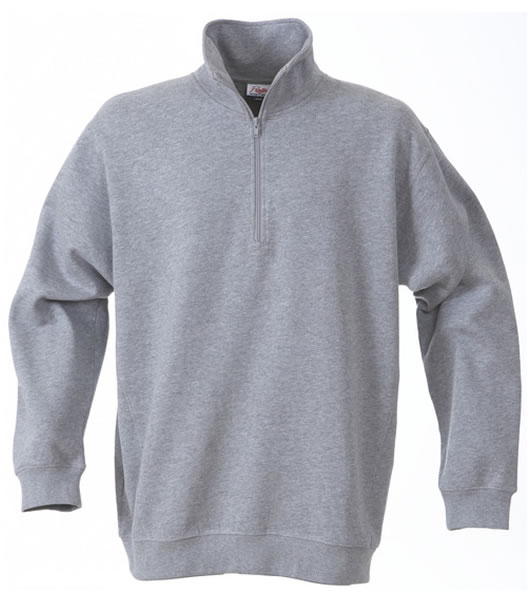 Bluza ze stójką P 2262034 Roundres - rounders_grey_melange_120_P - Kolor: Grey melange