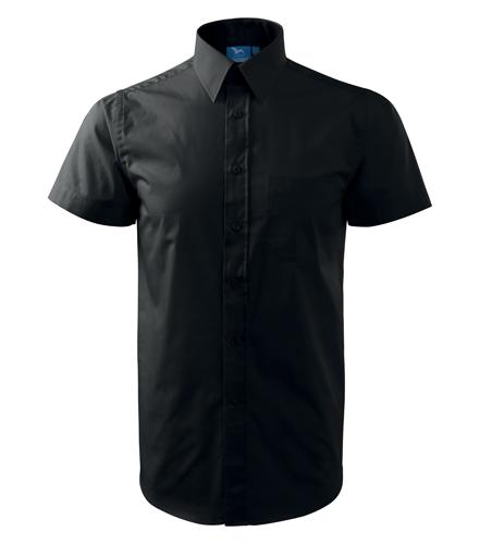 Koszula A 207 SHIRT SHORT SLEEVE - 207_01_A - Kolor: Czarny