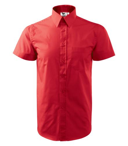Koszula A 207 SHIRT SHORT SLEEVE - 207_07_A - Kolor: Czerwony