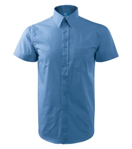 Koszula A 207 SHIRT SHORT SLEEVE - 207_15_A - Kolor: Błękitny